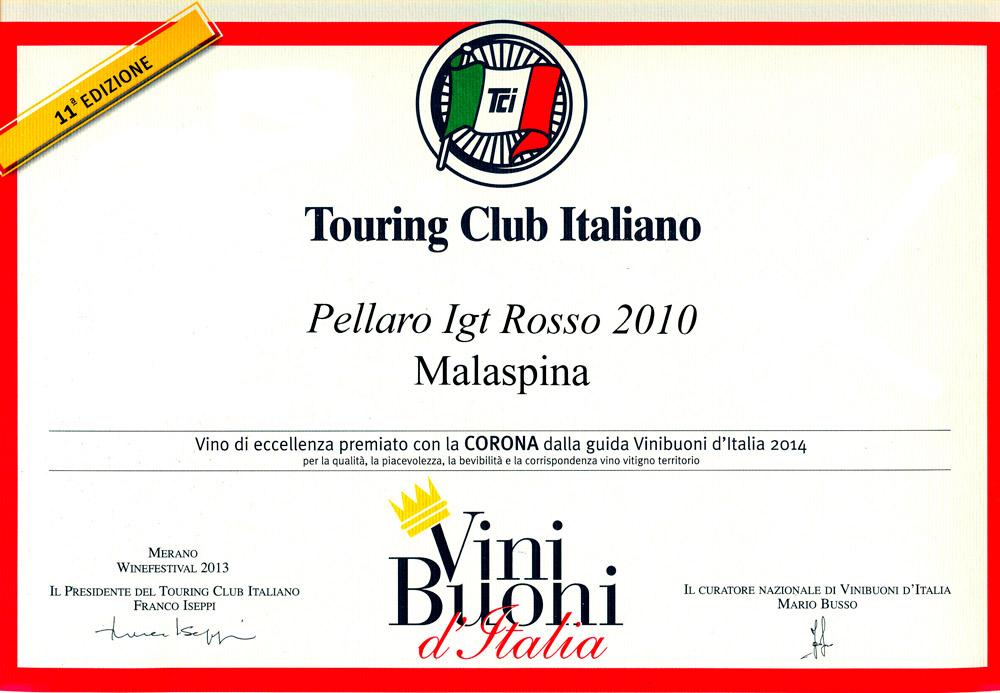 Corona di Vinibuoni d'Italia 2014 al Pellaro