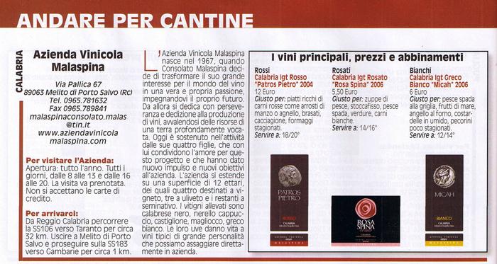Azienda Vinicola Malaspina recensita su IL MIO VINO