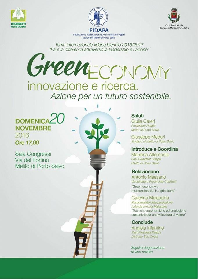 Green Economy innovazione e ricerca. FIDAPA